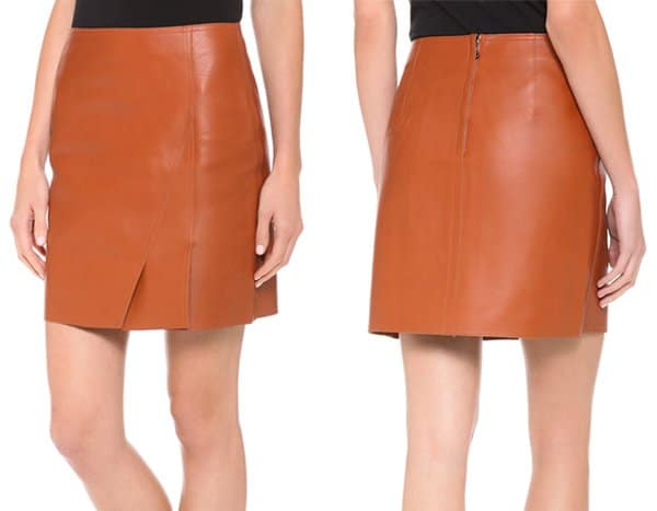 3 1 Phillip Lim Leather Layers Miniskirt
