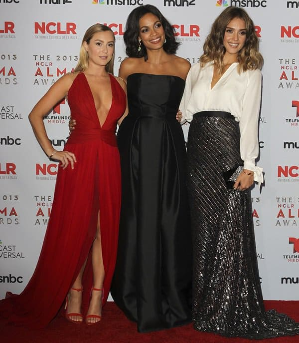 Alexa Vega, Rosario Dawson, and Jessica Alba at the 2013 ALMA Awards held at the Pasadena Civic Auditorium in Pasadena on September 27, 2013