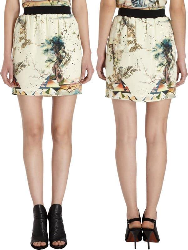Balenciaga Spinx Print Mini Skirt