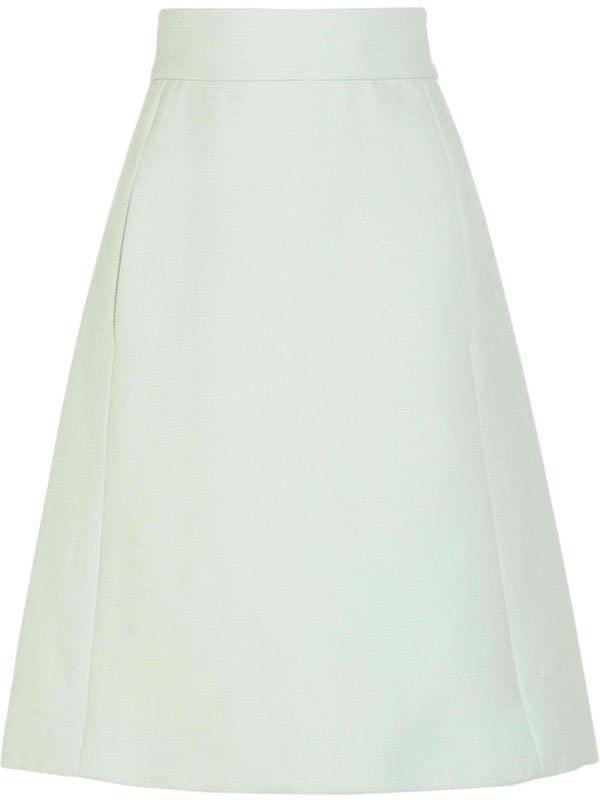 Chloe High Waisted Wool A Line Skirt