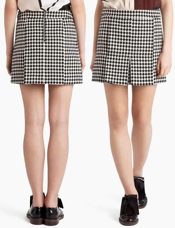 Marni Checked Mini Skirt