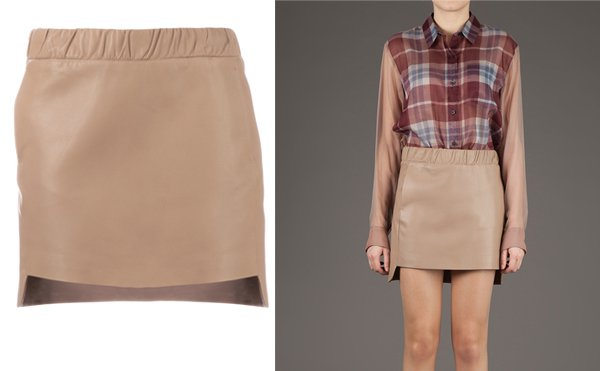 Neil Barrett Asymmetric Leather Skirt