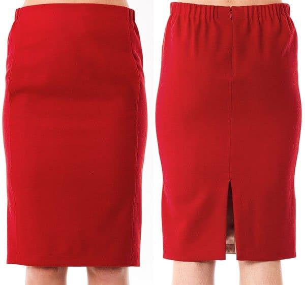 Nina Ricci Virgin Wool Pencil Skirt