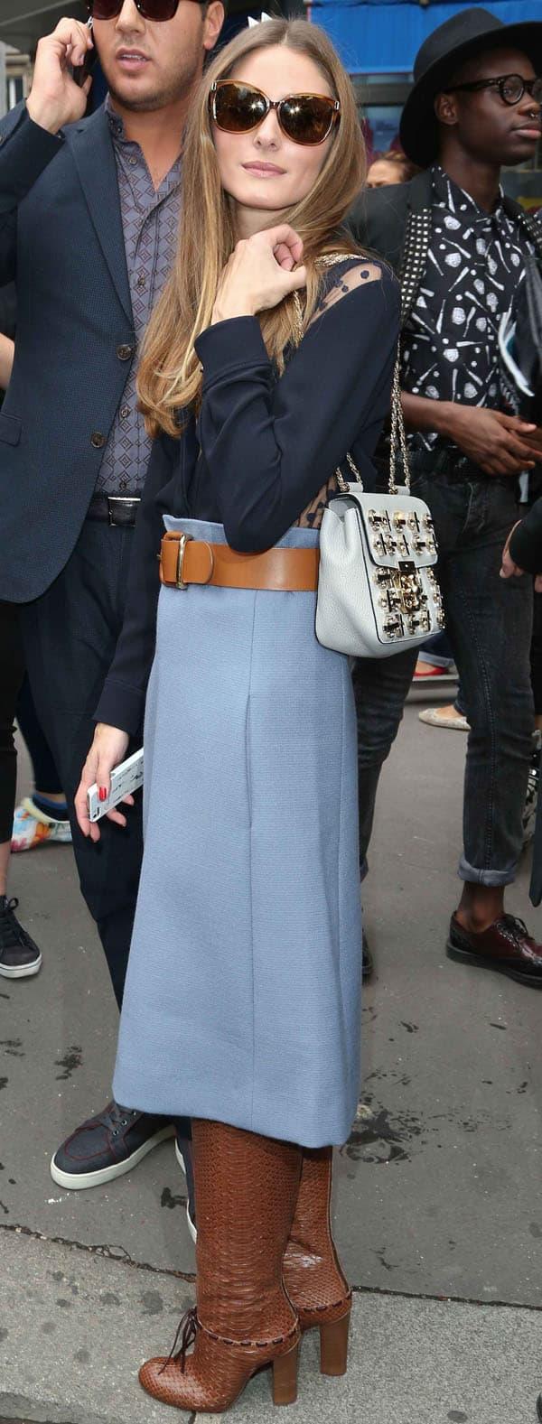 Olivia Palermo in Chloe Skirt 2