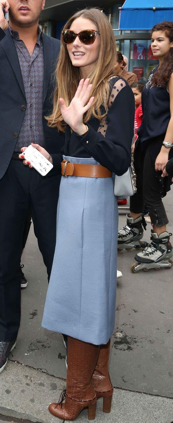 Olivia Palermo in Chloe Skirt 6