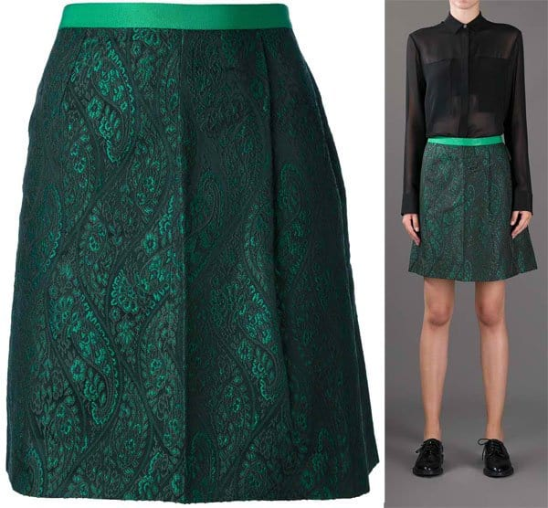 Tres Chic Sartorial A-line Paisley Skirt