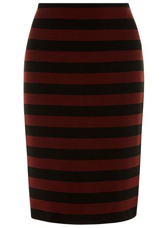 Dorothy Perkins Black and Berry Stripe Skirt