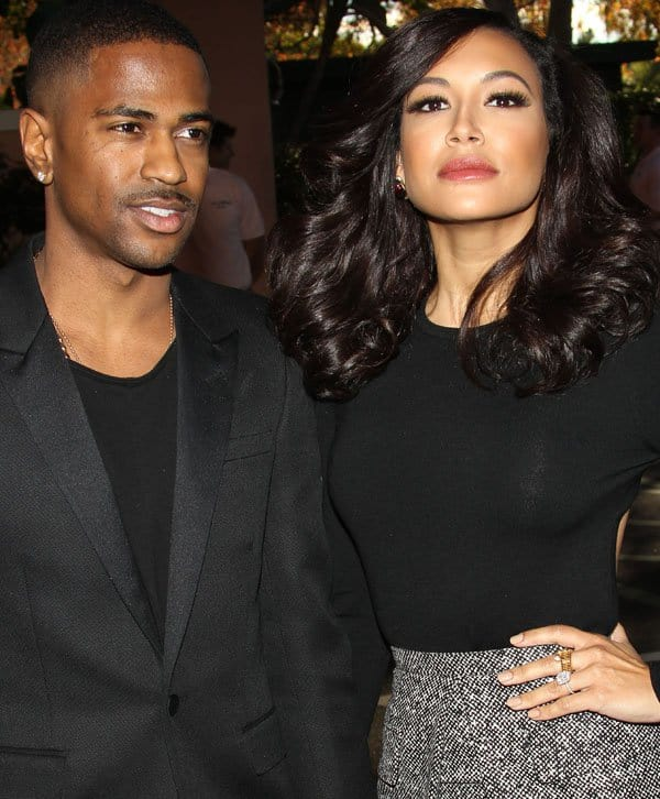 Naya Rivera and fiancé Big Sean at The Hollywood Reporter's Women in Entertainment Breakfast at the Beverly Hills Hotel in Los Angeles on December 11, 2013