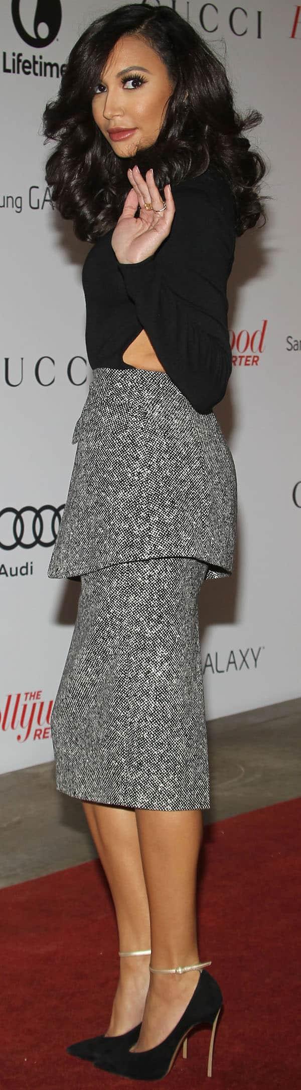 Naya Rivera wearing Marina B jewelry