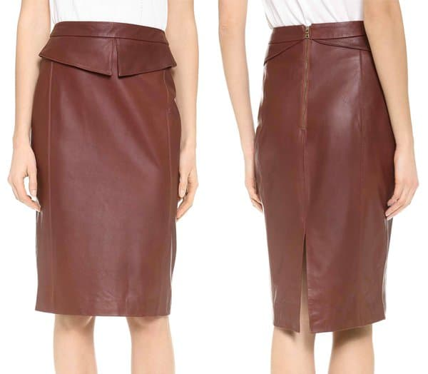 Jenni Kayne Peplum Pencil Skirt