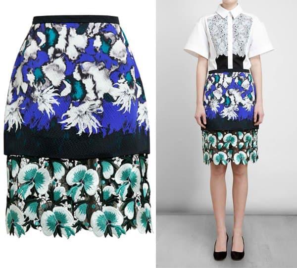 Peter Pilotto Anna Hammered Silk Skirt
