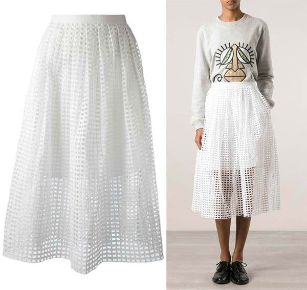 Carven Netted A Line Skirt