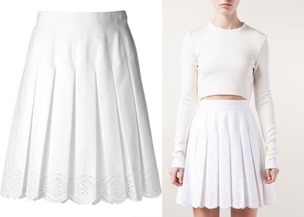Alexander McQueen Eyelet Skirt