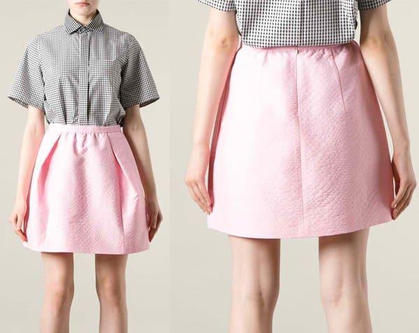 Carven Voluminous Jacquard Skirt