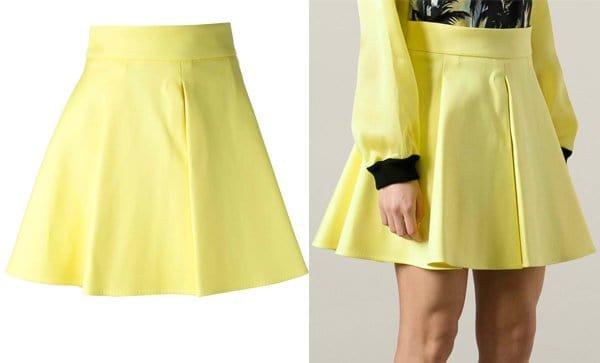 Fausto Puglisi Pleat Detail Skirt