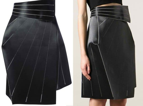 Issey Miyake Structured Origami Wrap Skirt