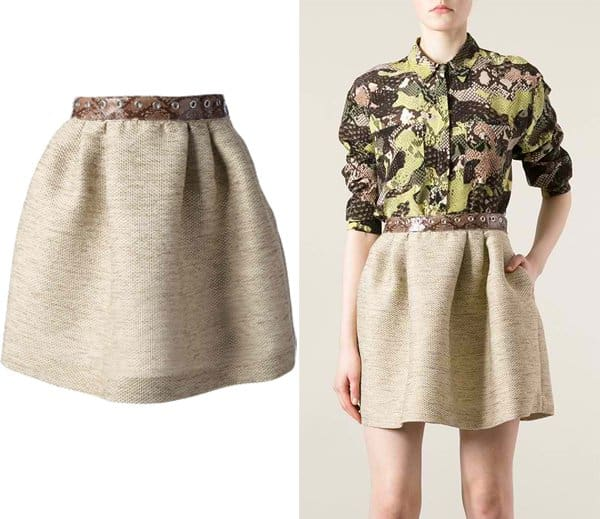 MSGM Canvas Mini Skirt