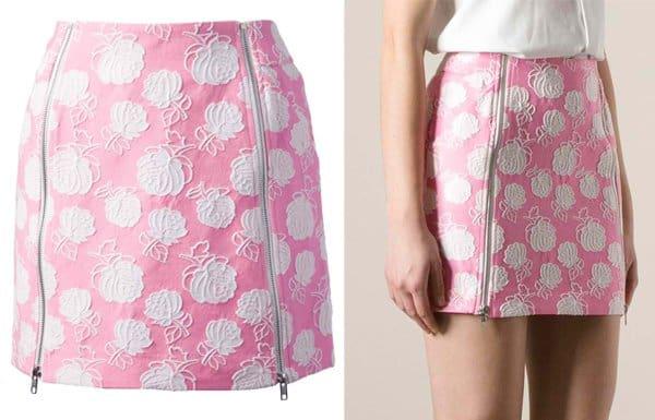 MSGM Floral Embroidered Miniskirt