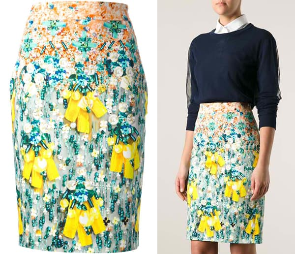 Mary Katrantzou Diamond Skirt
