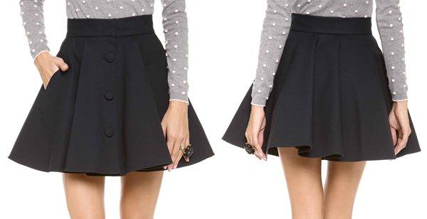 RED Valentino Flared Skirt