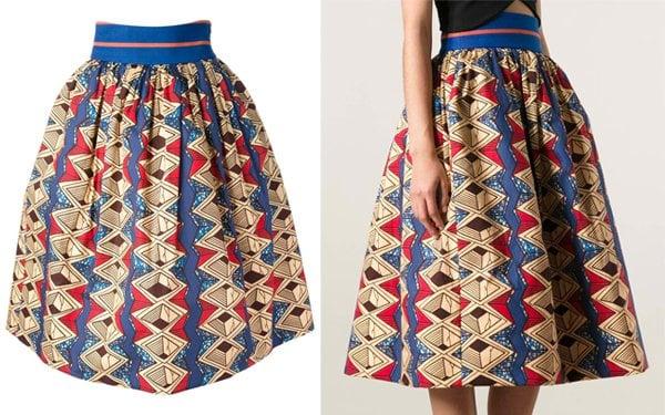 Stella Jean Iris Printed Skirt