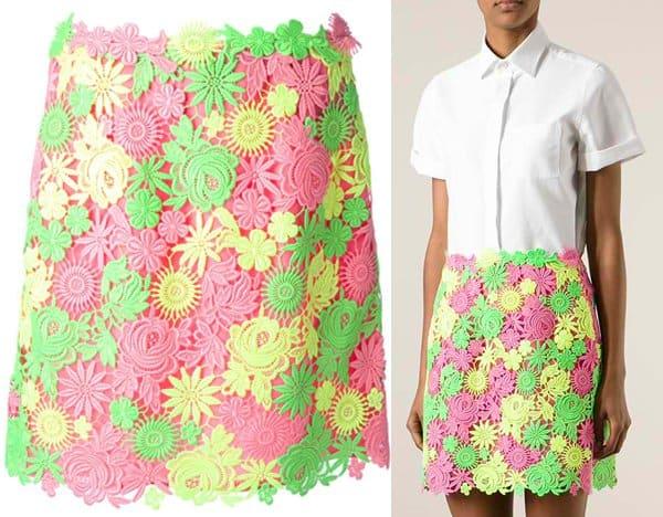 Valentino Floral Macrame Skirt