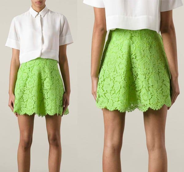 Valentino Macrame Skirt