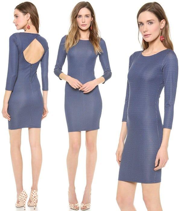 alice olivia Kal Open Back Dress