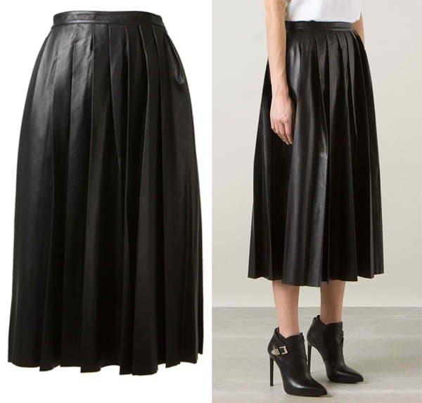 BLK DNM Pleated Midi Skirt