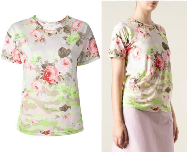 Carven Rose Print Tshirt