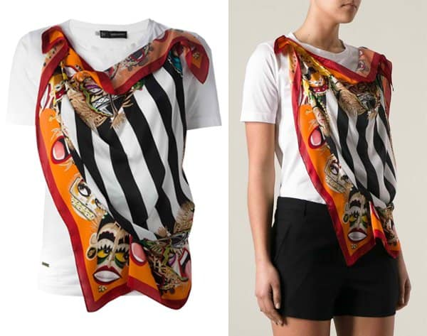 DSQUARED2 Scarf Front Tshirt