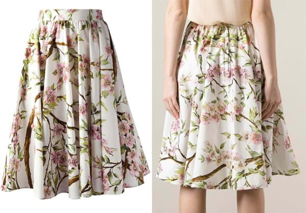 Dolce & Gabbana Pleated Flare Skirt