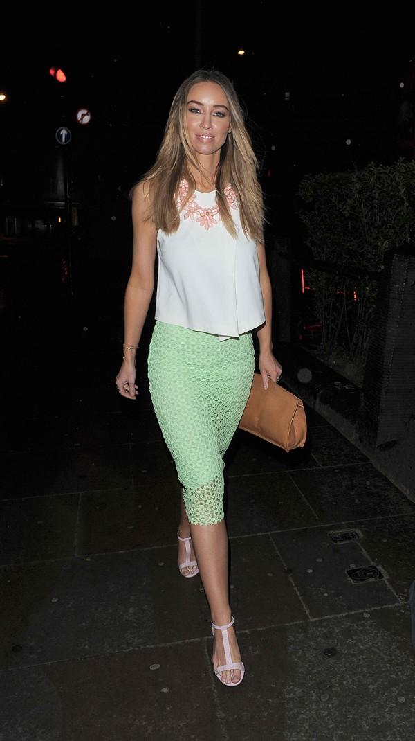 Lauren Pope leaving One Marylebone in London on April 23, 2014