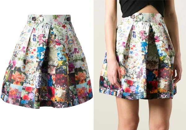 Markus Lupfer Pleated Patch Skirt