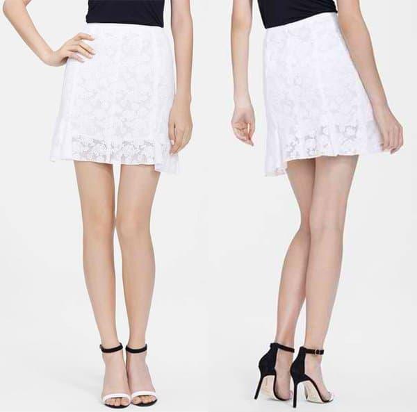 Nina Ricci Floral Lace Miniskirt