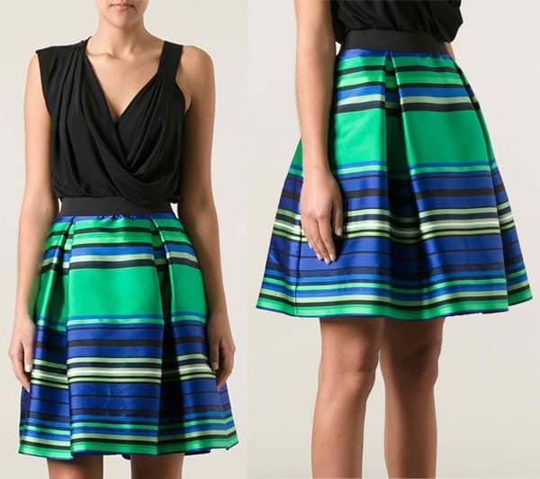 PAROSH Ruched Skirt