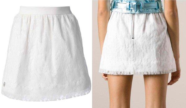 Philipp Plein Floral Lace Mini Skirt