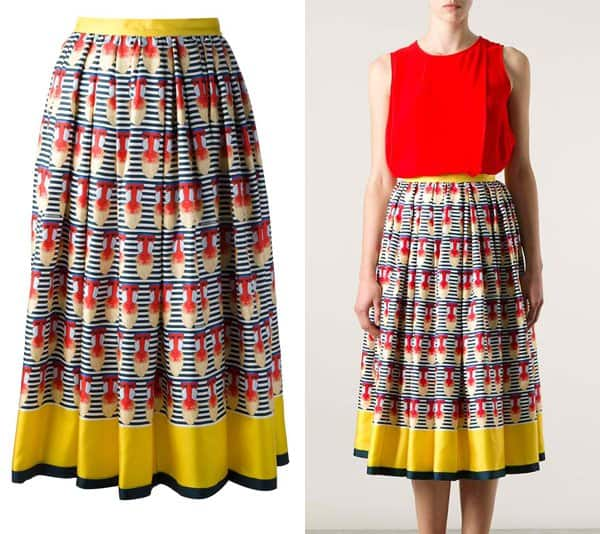 DSQUARED2 Baboon Print Skirt
