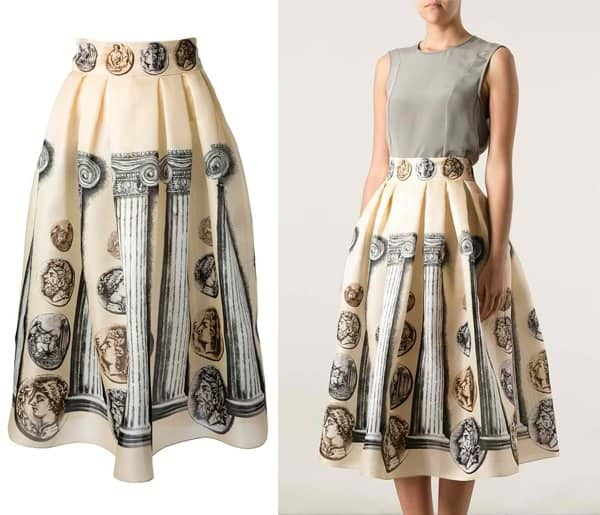 Dolce & Gabbana Ancient Rome Printed Skirt