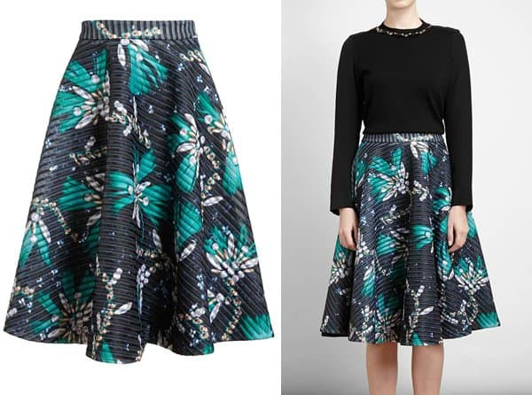 Mary Katrantzou Flared Printed Skirt