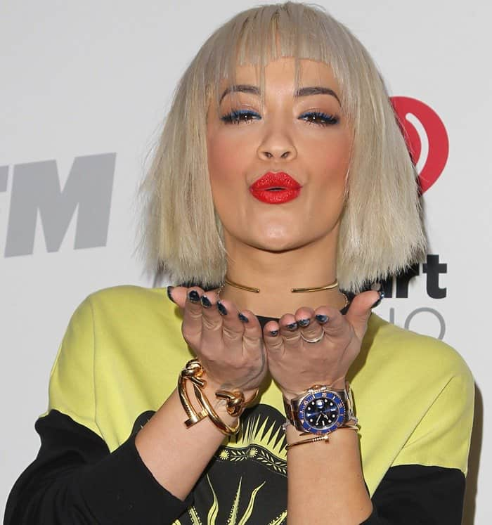 Rita Ora at the KIIS FM Jingle Ball 2014 held at the Staples Center in Los Angeles on December 5, 2014