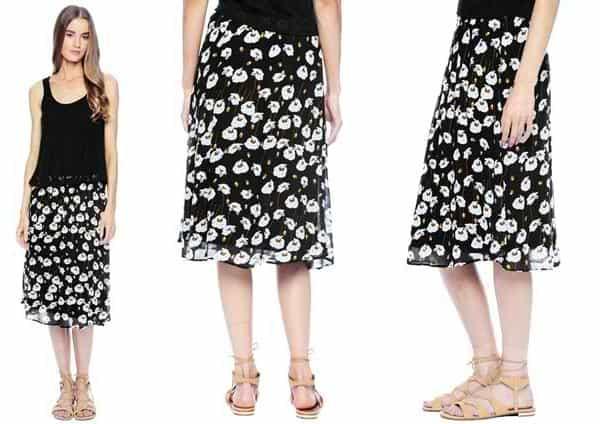 Ella Moss Poppy Fields Print Skirt