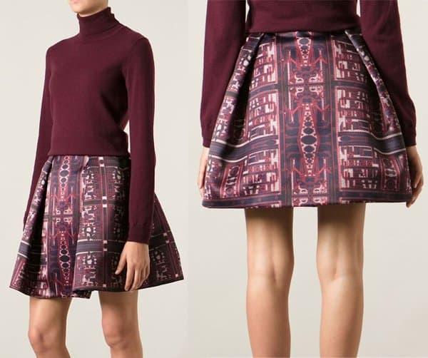 Mary Katrantzou Calculon Printed Full Skirt
