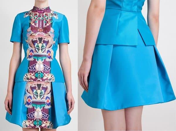 Mary Katrantzou Totem Print Pleated Skirt