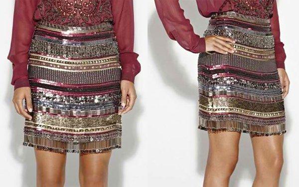 Nicole Miller Artelier Baba Fringe Skirt