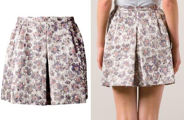 Giambattista Valli Metallic Jacquard Skirt