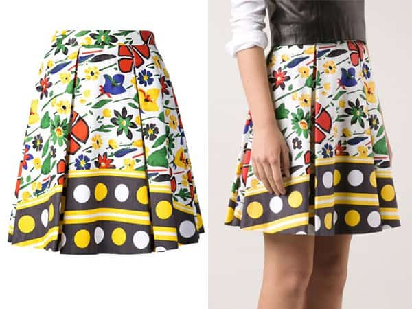 SUNO Abstract Floral Skirt