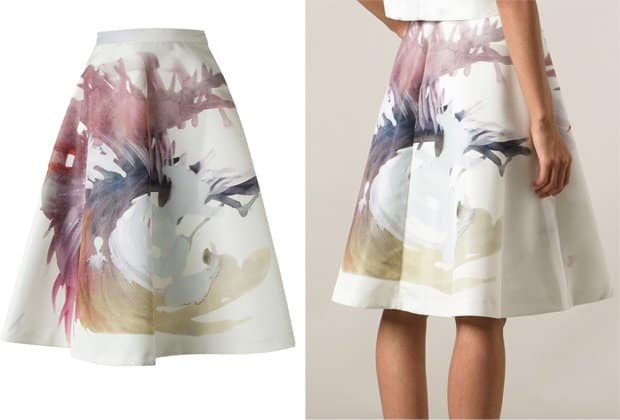 MSGM Painterly Print Skirt