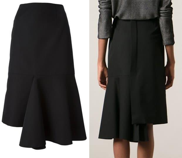 Marni Ruffled Asymmetric Skirt