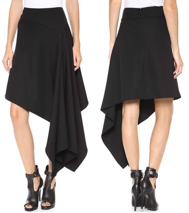 McQ Alexander McQueen Asymmetrical Skirt